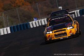 AutoSelect BNR34 GT-R Yellow Shark on the track