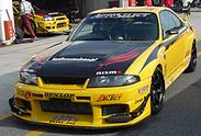 R33 Skyline GT-R Yellow Shark